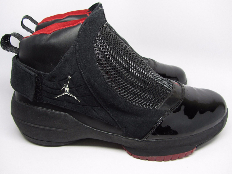 "The 2008 Air Jordan XIX ""Countdown Pack"" is a dead ringer for its 2004 original counterpart, complete with the black patent toe, strapped face mask shroud ..."