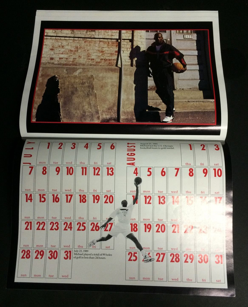 1991 air jordan flight club calendar