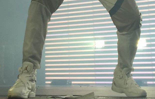 Drake Lights Up OVO Fest With Two Air Jordan 8 OVO Colorways