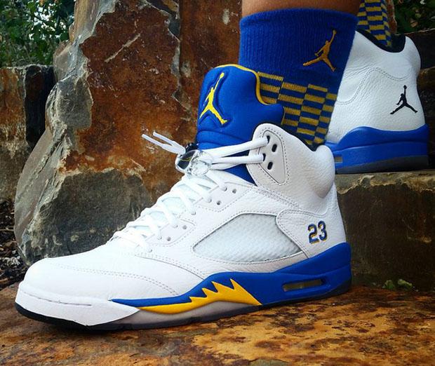 Jordan 5 Laney On Feet...