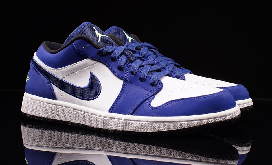 Nike Air Jordan. 1 Bajo Azul Y Blanco hacer un pedido original envío libre disfrutar 3VQ5aj