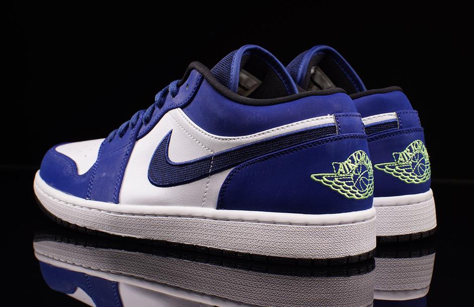 low top air jordan 1 blue