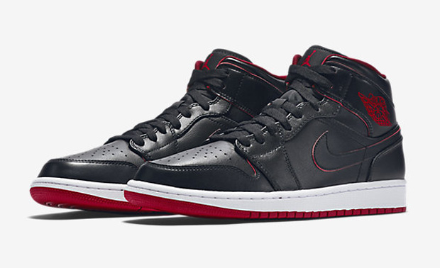 "Sometimes the basics are all you need. Sound like a tagline for the Air  Jordan 1 Mid ""Bred"" if it were a movie poster 586e656d5"