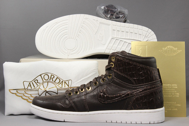 "8aaca78fbe4 Turns out you might not have to wait on the Air Jordan 1 Pinnacle ""Brown  Croc"" after all. The latest in the top shelf AJ1 series from Jordan Brand"