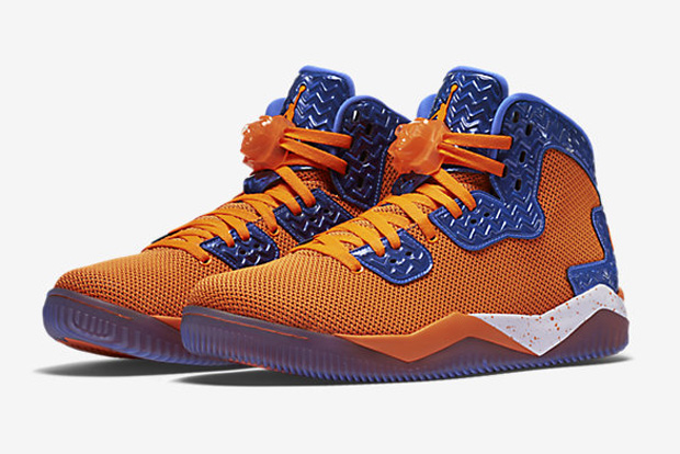 "quality design e2343 bfb95 The Jordan Spike Forty ""Total Orange"" officially hit retail today. Jordan  Brand s third signature sneaker for Spike Lee (following Spiz ike and Son  of Mars) ..."