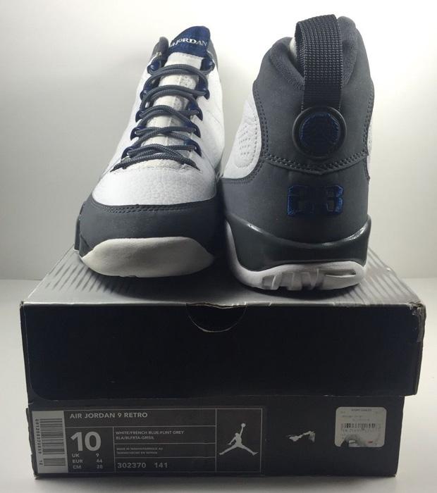wholesale dealer 41bb0 a71a7 ... Jordan 9 Retro White French Blue Flint Grey Shoes Top Deals source  clicknsho ...