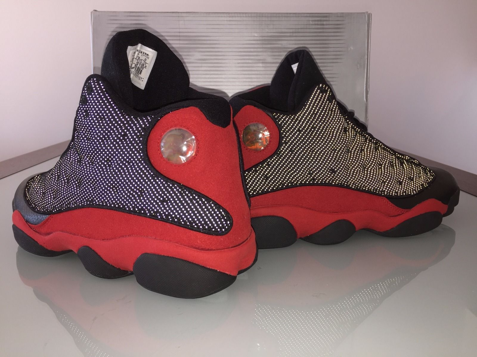 Mens Air Jordan 13 New Combination Black Red shoes
