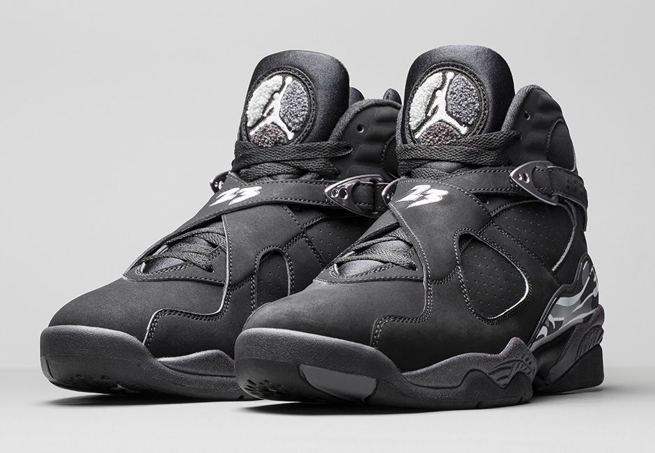 air jordan 8 black and white