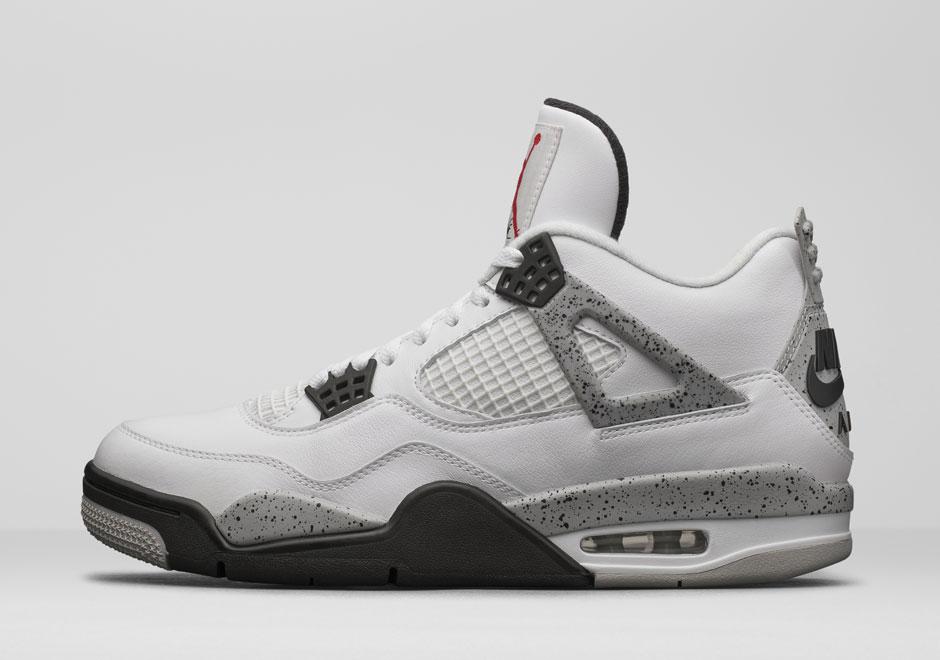 Nike Air Jordan Retro 4 Ciment Blanc 2016 images de dégagement NZgsd0Wp