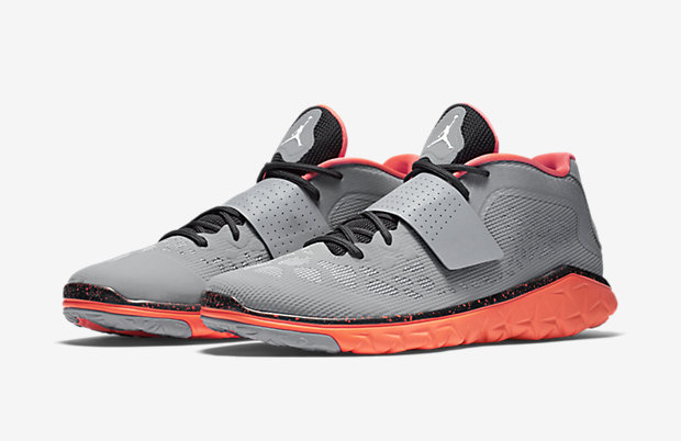 buy popular c385c beadc ... a grey Hyperfuse upper thats ventilated in targeted zones, while  highlighter orange nike air jordan flight flex trainer uk Jordan Flight  Flex Trainer 2 ...