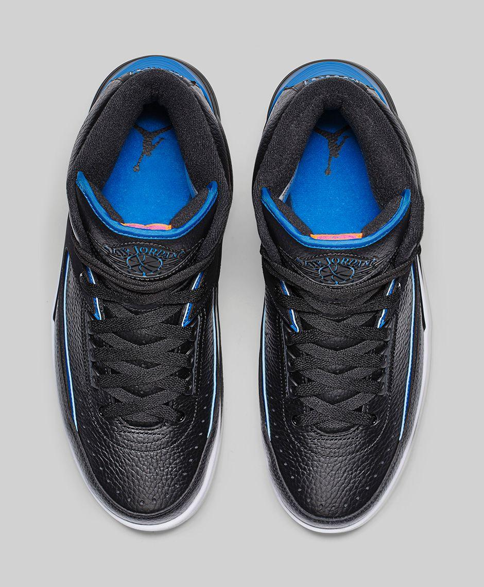 Nike Air Jordan 2 Retro Radio Raheem Brooklyn 80 Black Blue 834274 ... f63ec9904