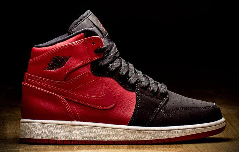 Everyone knows Air Jordan 1 by its classic White Black-Red and Black Red  flavors. But this new pair for the grade school crowd proves there s room  for new ... 8667fd767233