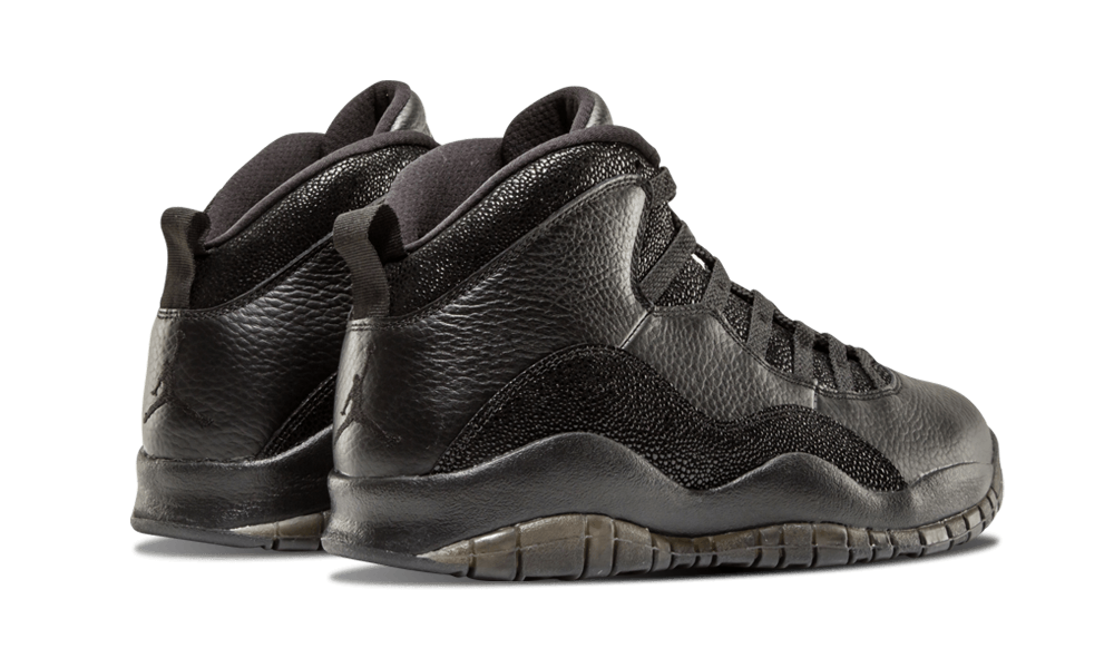 e85b74b69b681d ... hot jordan ever created rocking out the black leather and stingray  detailing ovo branding and gold