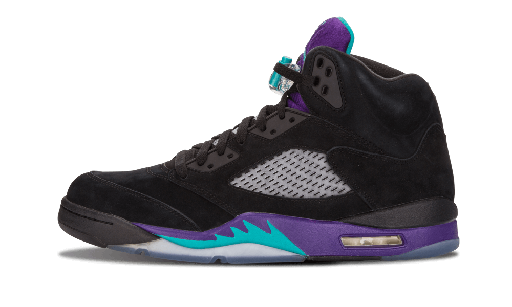 The Air Jordan 5 hit shelves in It maintained the mesh side panels introduced with its predecessor and took another bold step with its look-it included the first appearance of a translucent sole on a Jordan air jordan black grape 5 cheap signature sneaker.