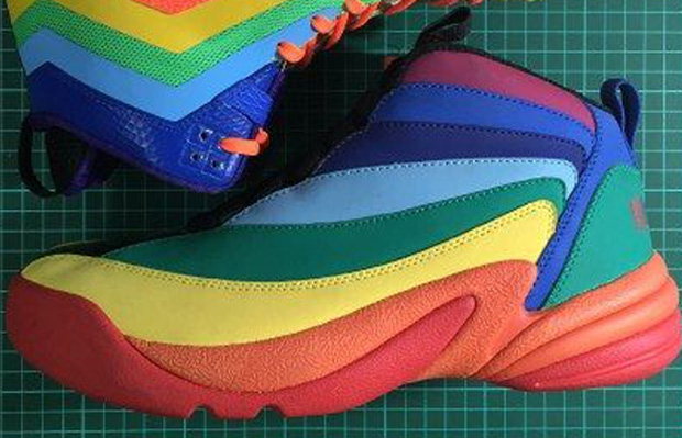 rainbow jordans shoes
