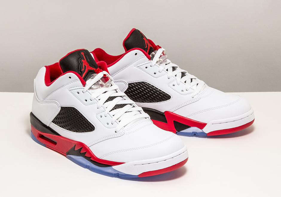 more photos a4f10 e35ac Air Jordan 5 Low Fire Red Available Early At Stadium .