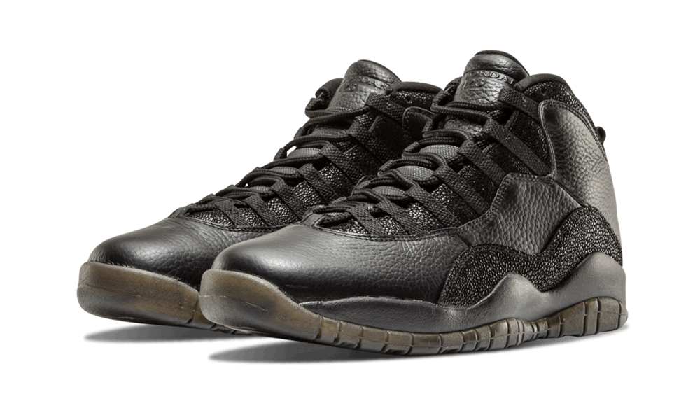"169ee99c4bfd49 Air Jordan 10 OVO ""Black"" finally arrived in 2016 to great fanfare"