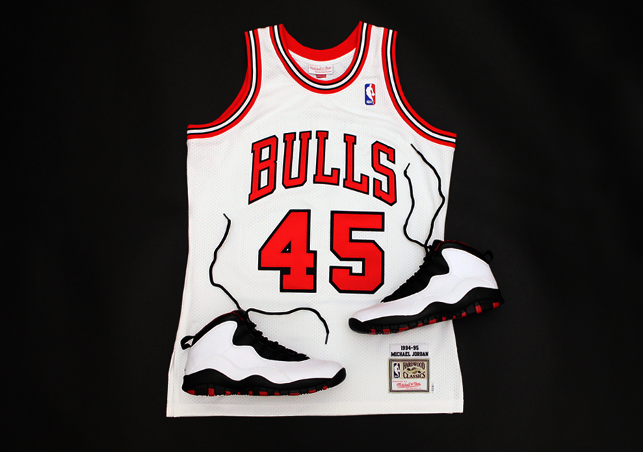 ab634ce1430 Mitchell & Ness continues its commemorative Michael Jordan jersey series  with the most famous number-change in sports history. The brand has  re-created ...