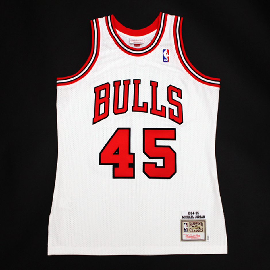 pretty nice 9550f d0c82 ... Mitchell Ness Releasing Michael Jordans Number 45 Comeback Jersey ...
