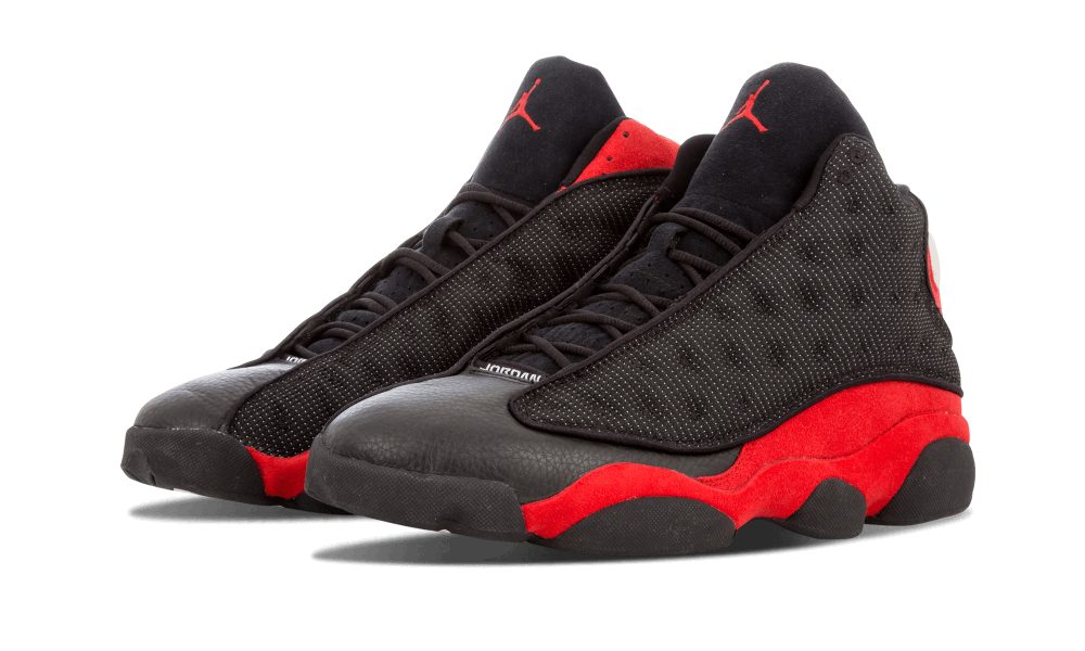 "188a1368e66e Air Jordan 13 Black True Red – better known as ""Bred"" – was one of four  sneakers that Michael Jordan wore throughout the 1998 NBA Playoffs."