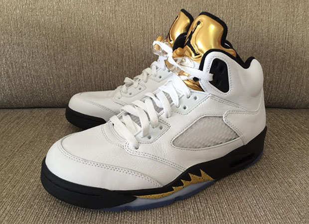 "... is the most obvious ode to the upcoming Olympic games, but Jordan Brand  is expanding their recognition in a slightly more subtle way. Air Jordan 5 "" Gold ..."