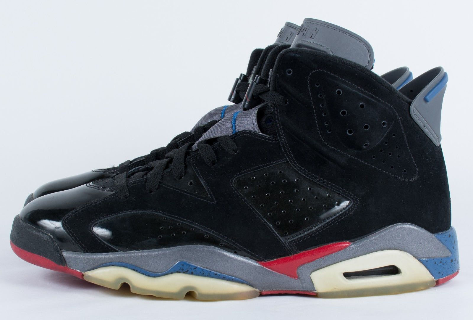 Air Jordan 6 Retro Pistons Black Red Blue Light Graphite shoes