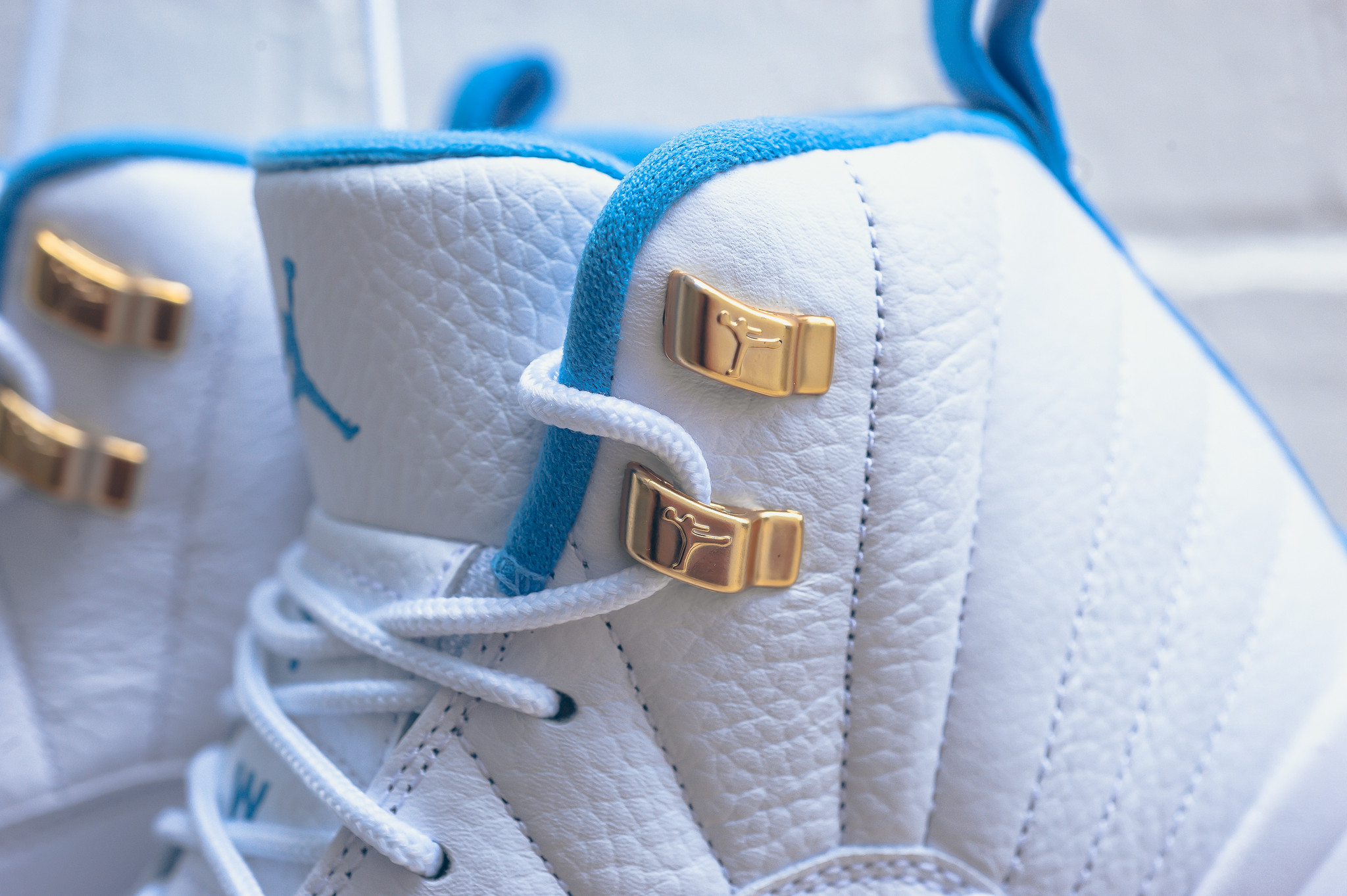 best loved 0c830 69697 ... air jordan 12 gg melo gearing up for this weekend  air jordan 12 melo  white blue gold ...