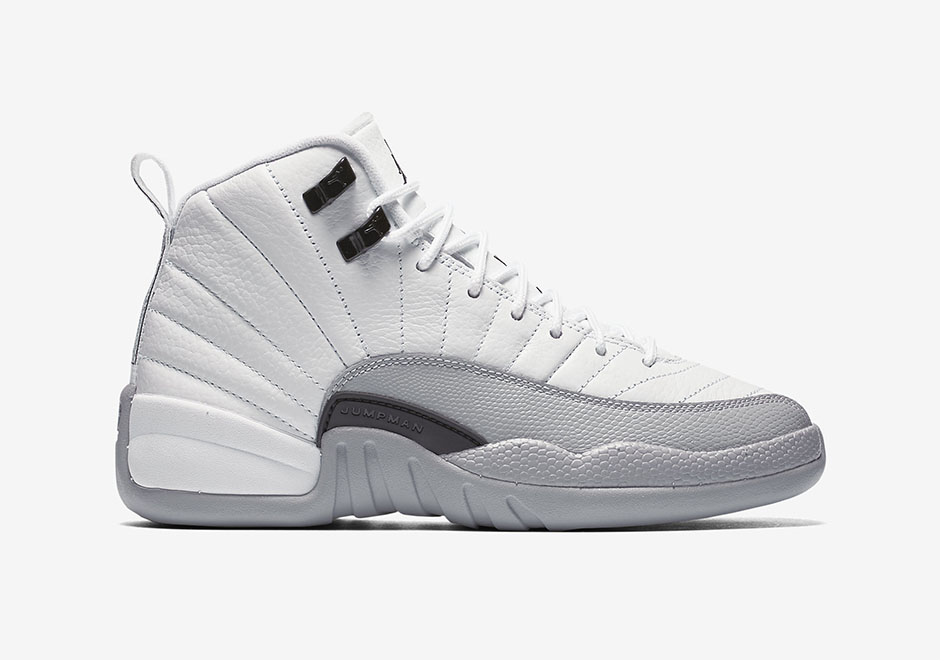 "wholesale dealer d322f 8422f ... black Air Jordan 12 GS ""Wolf Grey"" Official Photos ."