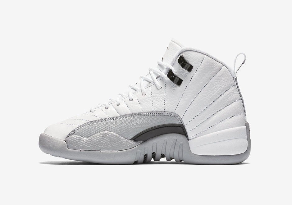 "new arrival 30e17 aebc8 Air Jordan 12 GS ""Wolf Grey"" Official Photos ..."