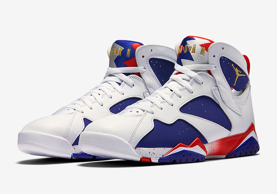 "Air Jordan 7 ""Olympic Alternate"" Official Photos"