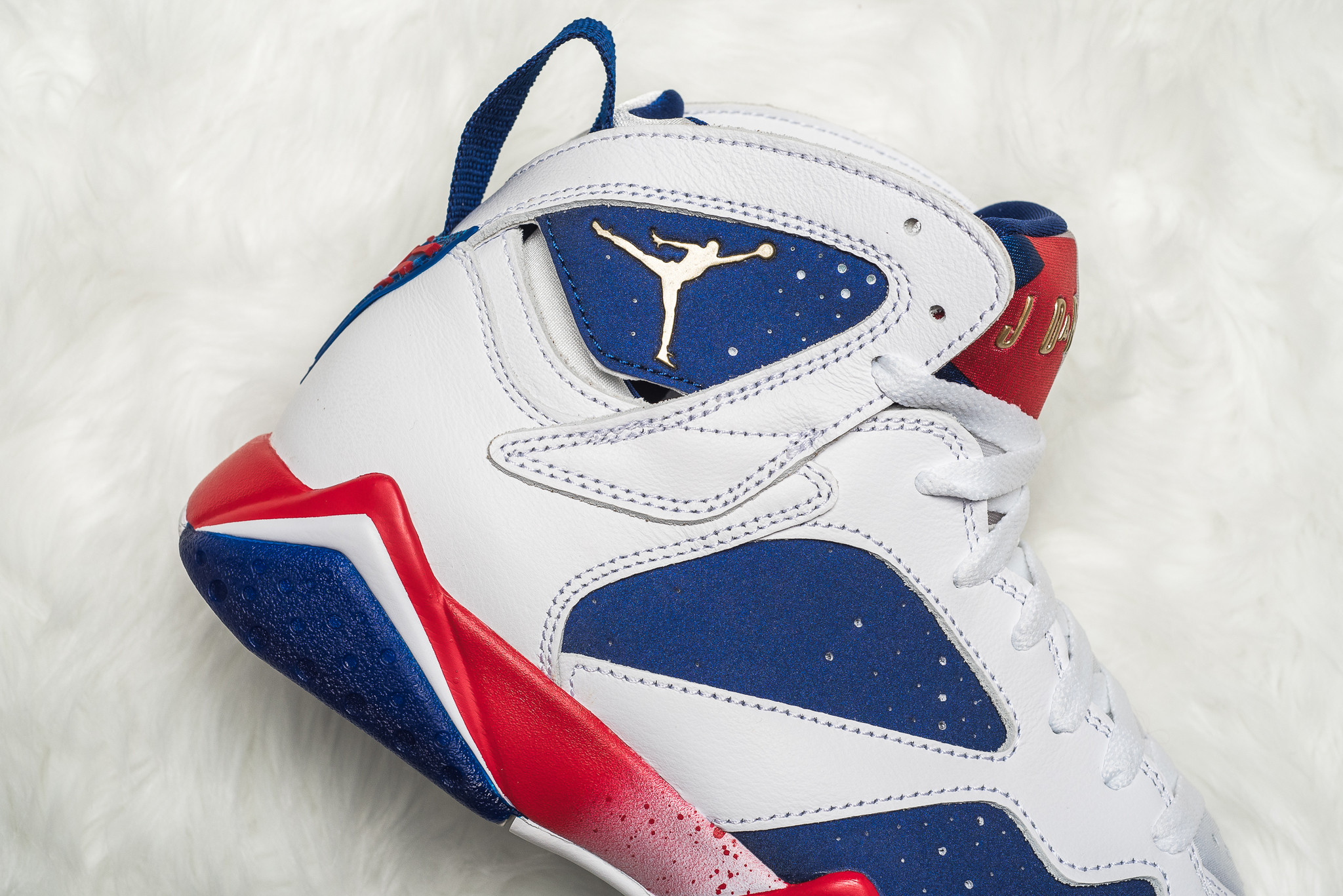 """Air Jordan 7 """"Olympic Alternate"""" Color  White Metallic Gold Coin-Deep Royal  Blue-Fire Red-Lite Iron Ore Style Code  304775-123. Release Date  August 6 eb508f1ec171"""