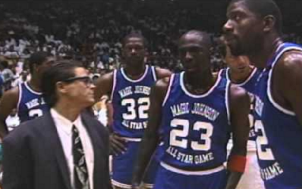 #MJMondays: Michael Jordan Dunks Everything At Magic Johnson's Charity Game