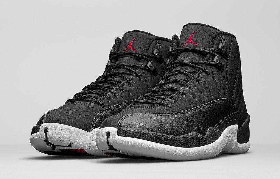 black air jordans 12