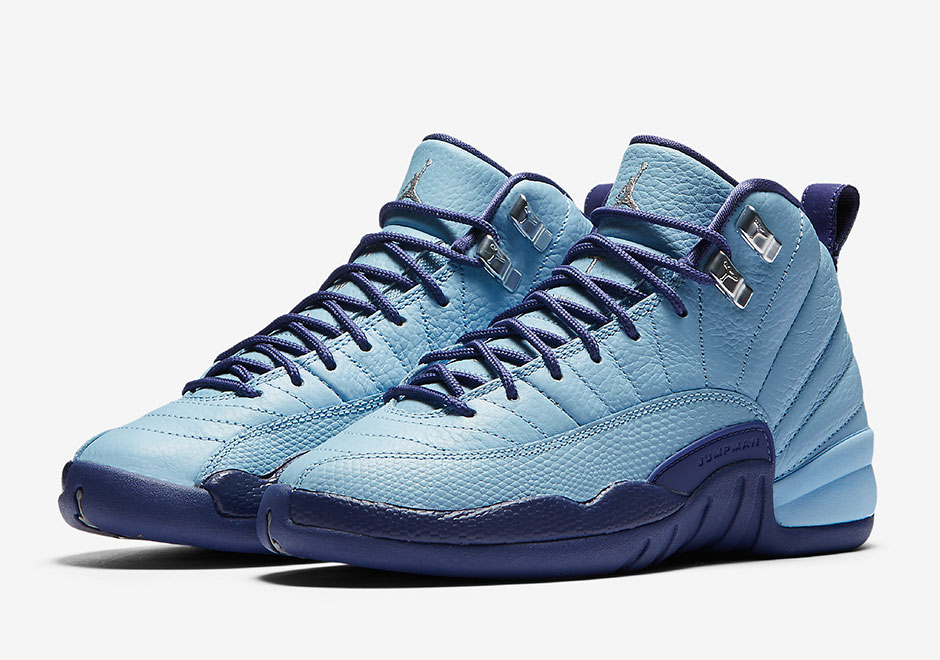 3bc2ada2d903 ... retro light aqua 5776f 0ac31  sale air jordan 12 gs blue cap official  photos 98293 b3562