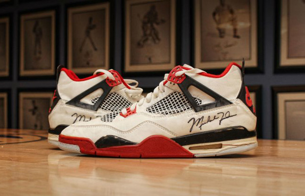 Michael Jordan's Game Worn Air Jordan 4