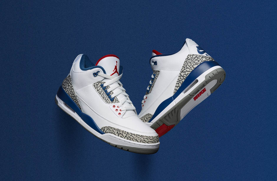"629be4ed3afd The release of Air Jordan 3 ""True Blue"" this Saturday marks a return to the  shoe s original 1988 form"