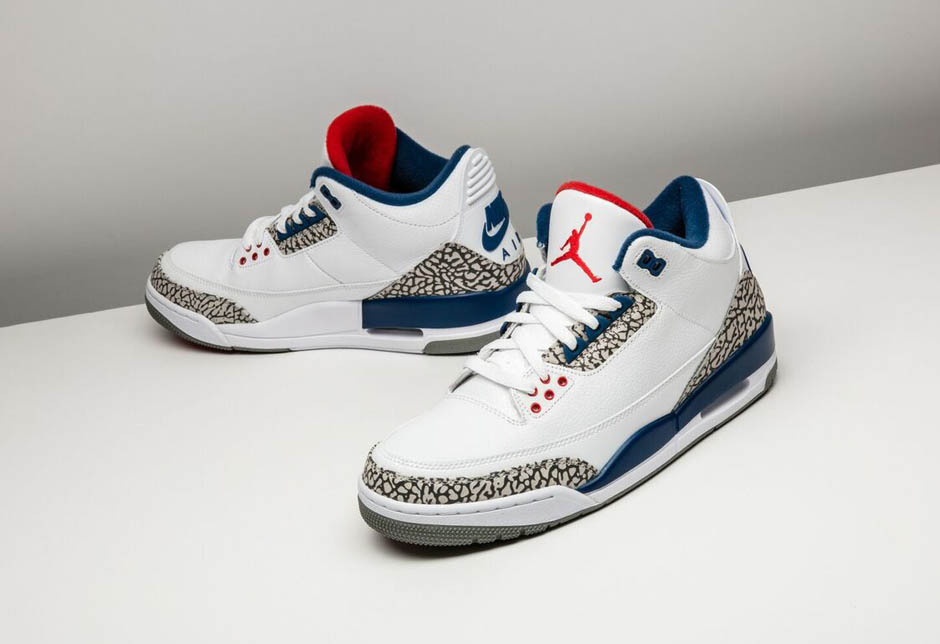 "c2e3ff2df9ab31 Any Air Jordan sporting the Nike Air signage is going to be a big ticket  release. If that signage is on the Air Jordan 3 ""True Blue"" – a sneaker  that has ..."