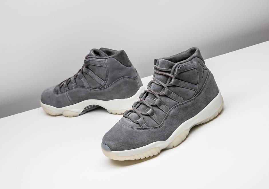 "e6d4bdce349c Air Jordan 11 ""Suede"" Color  Cool Grey Sail Style Code  914433-003. Release  Date  December 23"