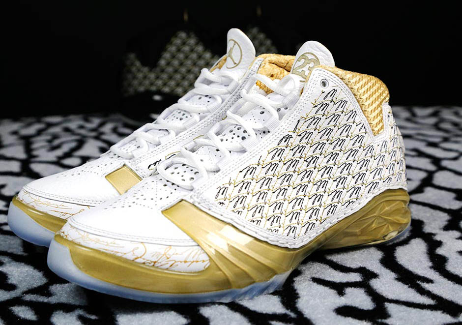 201553cc8f8347 Marcus Jordans s Trophy Room is doing it big with a restock of their grand  opening Air Jordan XX3s. The gold-tinged sneakers were due to re-launc.