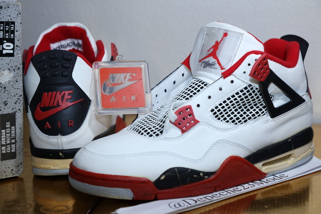 "new arrival 6688a 8ee31 Few colorways scream Michael Jordan and Chicago Bulls than the ""Fire Red"" Air  Jordan 4. Released in 1989 as one of Tinker Hatfield s three handpicked  looks ..."