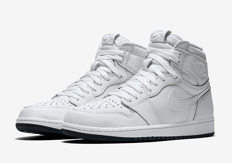 "brand new d1004 da87c Air Jordan 1 ""Perforated Pack"" signals a return to classic white and black  colorways, with a simple twist. Like 2016 s Air Jordan 1 ""Yin Yang"" pack,  the ."