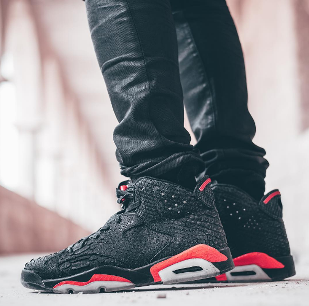 80735b8ffcf free shipping air jordan 6 black infrared re imagined in python suede air  jordans release dates