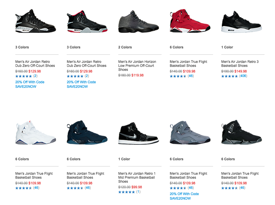 Finish Line Included All These Air Jordans In The End Of Season Sale