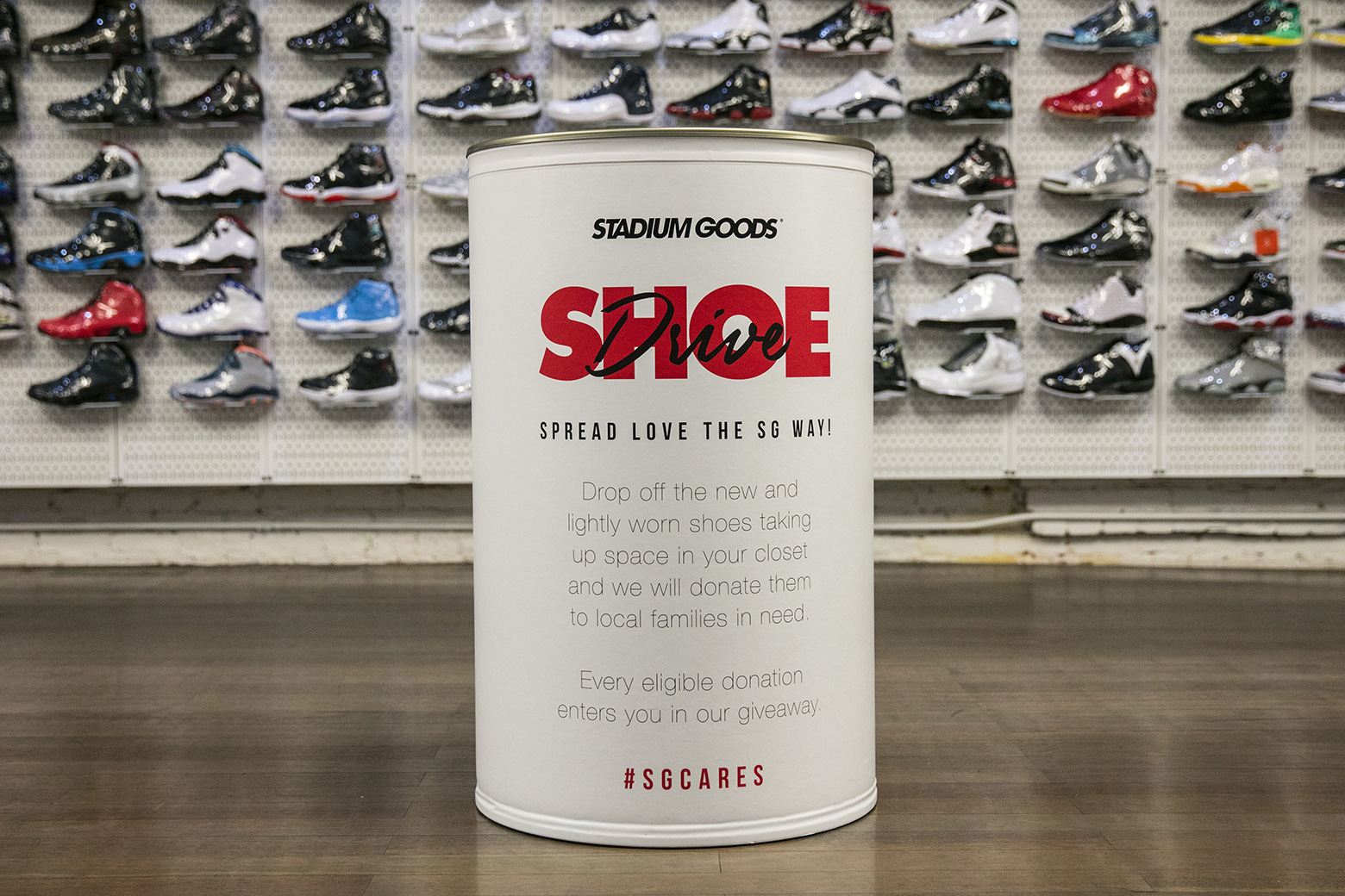 super popular 93b53 92882 If you ve got extra sneakers and want to help a great cause, the Stadium  Goods Shoe Drive is a perfect fit. The premium New York footwear shop is  taking ...
