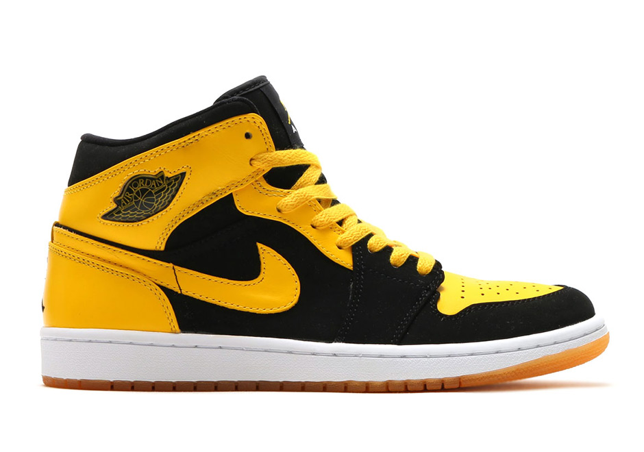 Enter this bumblebee black and yellow Air Jordan 1 Mid on the 2017 release  ledger. First seen in the Air Jorda. a786e3d0f