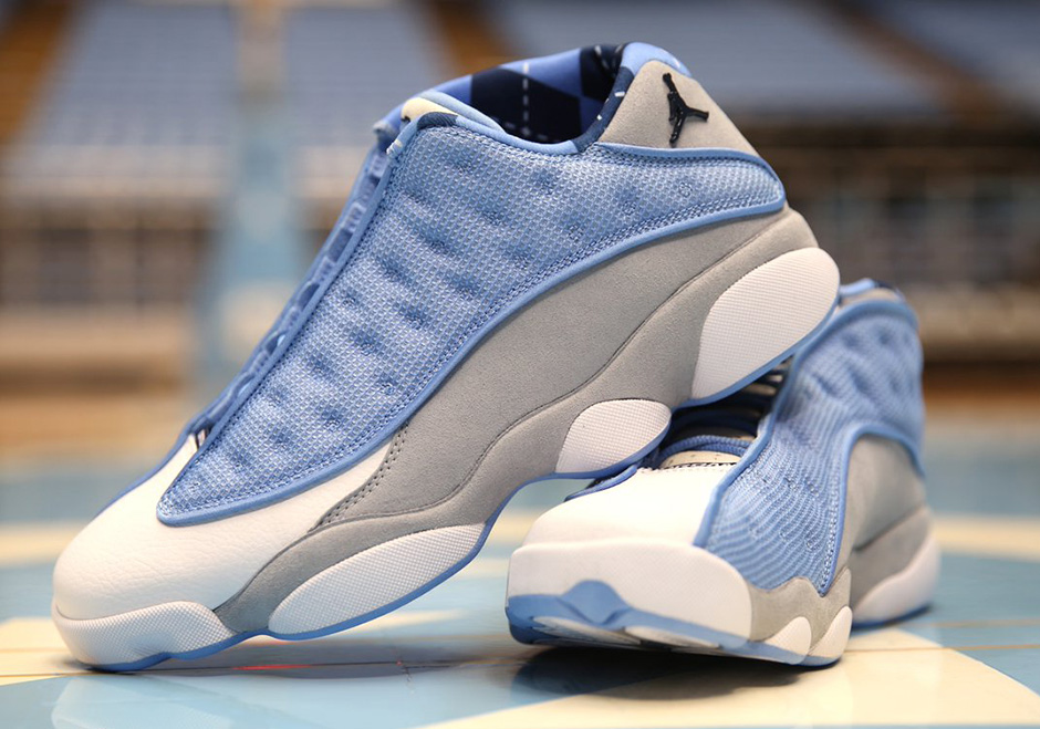 First Look At UNC's Air Jordan 13 Low Exclusive For March Madness