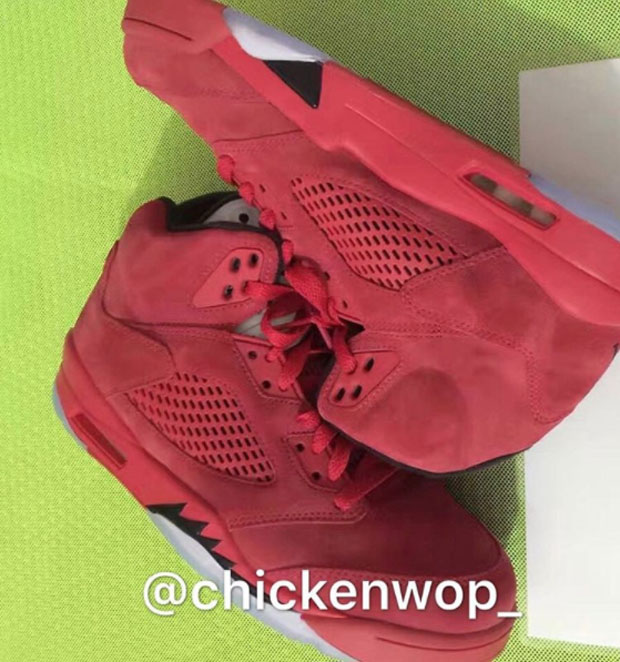 "reputable site 24eee f8bd9 Air Jordan 5 ""Red Suede"" On The Way For July 2017 – TIP SOLVER"