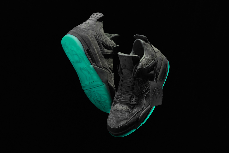 Kaws x Air Jordan 4 And Its Green Glow Sole Arrive This Friday