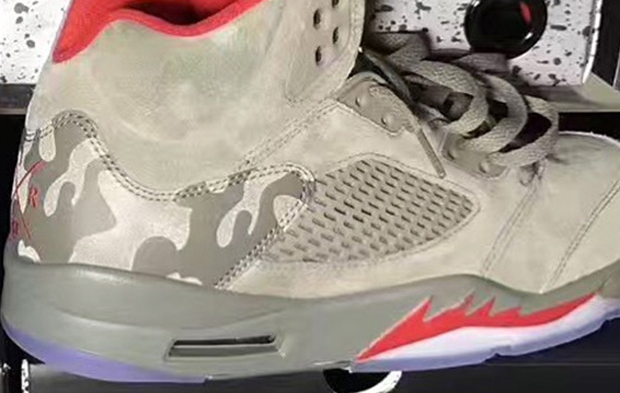 9ca507c41c3 What other interesting takes does Jordan Brand have in the pipeline for  2017? One of them may be this green camouflage Air Jordan 5.