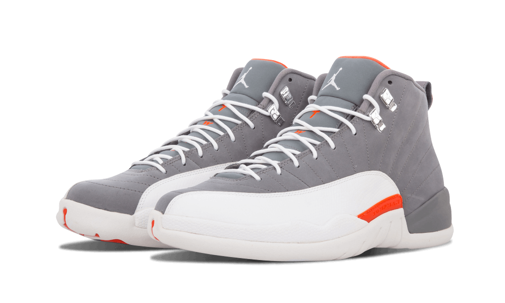 Air Jordan 12 Debuted During The 1996 97 Season But First Grey Based Colorway Didn T Arrive Until 2017 White And Orange Combination Had Some
